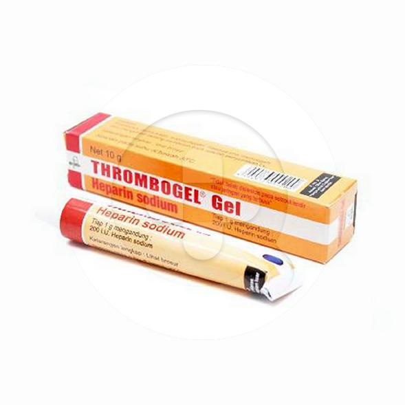 Thrombogel gel adalah obat untuk mencegah pembekuan penggumpalan darah di bawah kulit.
