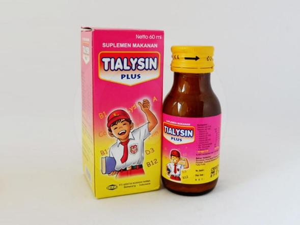 Tialysin sirup merupakan suplemen anak pada masa pertumbuhan.