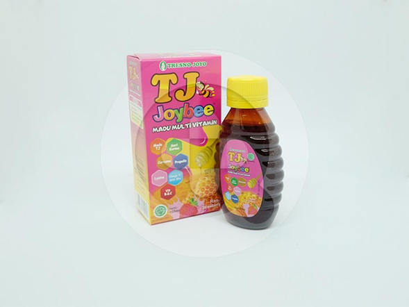 TJ Joybee rasa strawberry 100 mlmerupakan suplementasi vitamin anak pada masa pertumbuhan.