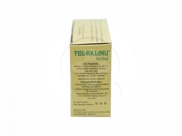 Tolak Angin Linu Herbal digunakan untuk membantu meredakan pegal linu dan nyeri sendi.