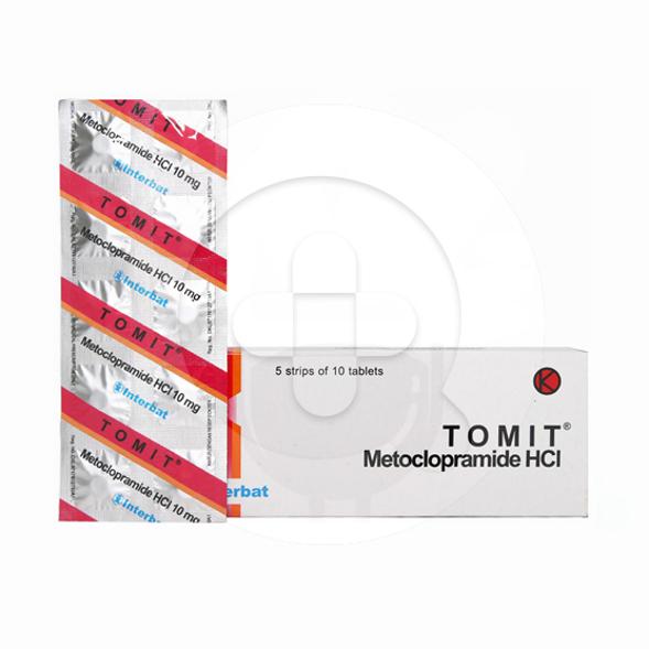 Tomit tablet adalah obat untuk mengatasi mual dan muntah karena gangguan saluran pencernaan.