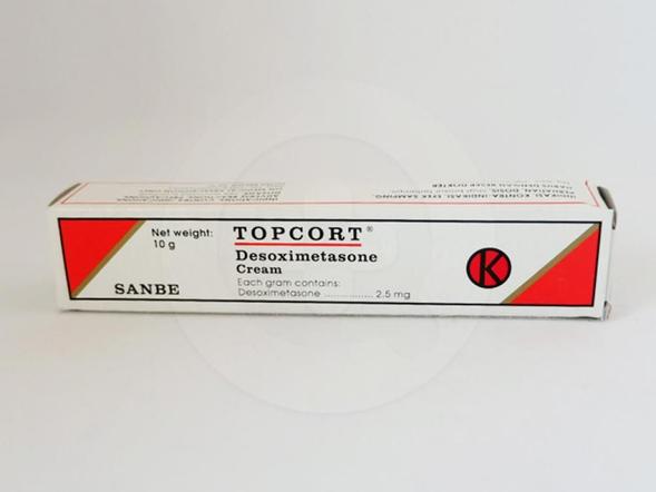 Topcort krim 10 g diindikasikan untuk meredakan manifestasi peradangan (inflamasi) dan rasa gatal (pruritik) pada peradangan pada kulit (dermatitis) yang responsif terhadap kortikosteroid.