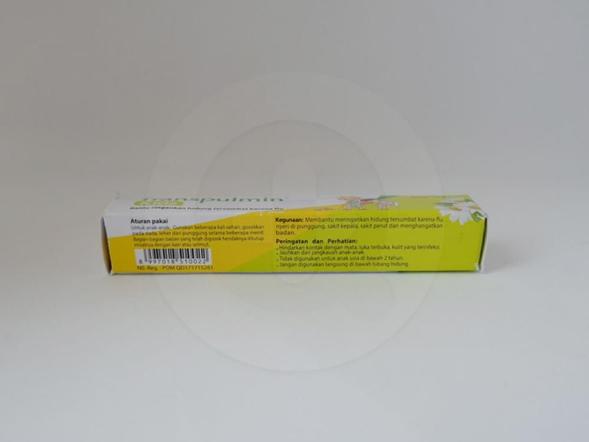 Transpulmin kids 10 g untuk meringankan hidung tersumbat karena flu, nyeri di punggung, sakit kepala, sakit perut dan menghangatkan badan.