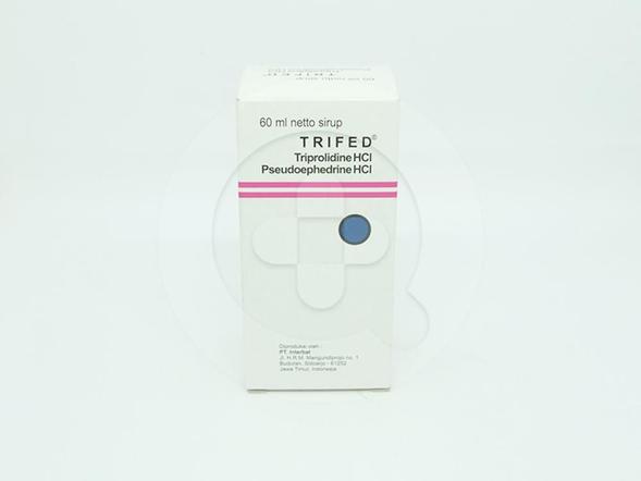 Trifed Sirup 60 ml digunakan untuk meringankan gejala flu karena alergi pada saluran pernafasan bagian atas.