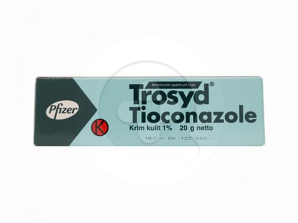 Trosyd krim digunakan untuk mengobati infeksi kulit yang disebabkan jamur yang peka.