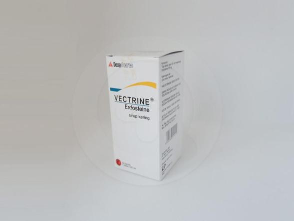 Vectrine sirup kering 60 ml mampu mengencerkan lendir pada gangguan saluran pernafasan akut dan kronik.