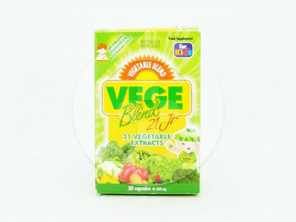 Vegeblend 21 jr kapsul 550 mg adalah obat untuk membantu memelihara kesehatan anak.