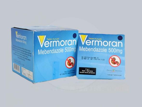 Vermoran tablet 500 mg adalah obat untuk mengobati infeksi cacing.