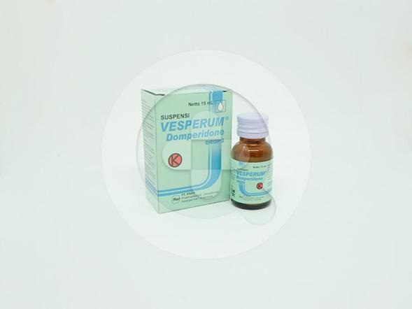 Vesperum tetes 15 ml diindikasikan untuk mual dan muntah karena kemoterapi kanker dan radioterapi.