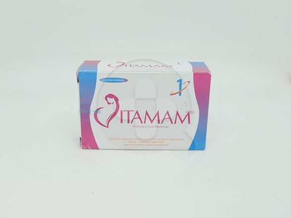 Vitamam 1 kapsul digunakan untuk memenuhi kebutuhan vitamin, mineral dan asam folat pada masa kehamilam trimester pertama.