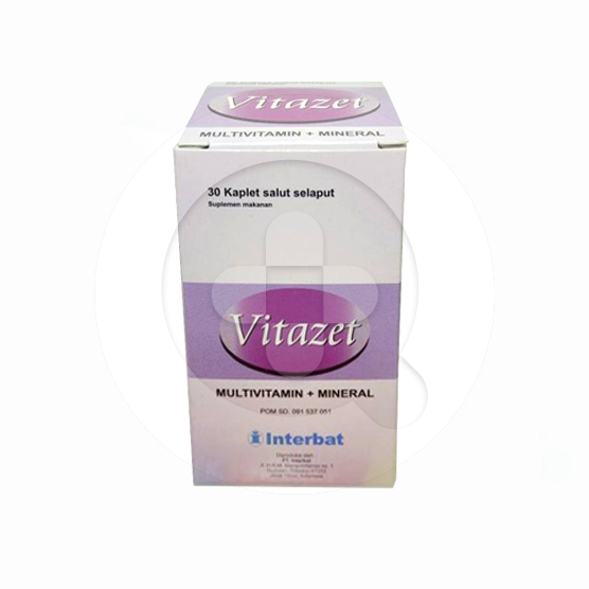 Vitazet kaplet adalah suplemen untuk memenuhi kebutuhan multivitamin, zink, dan kalsium.
