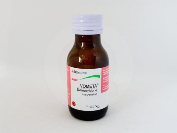 Vometa suspensi 60 ml untuk mengatasi mual dan muntah.