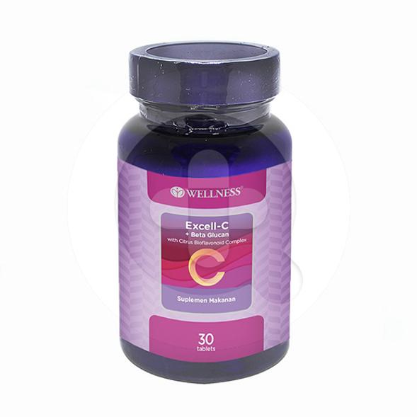 Wellness excell-c + beta glucan adalah suplemen untuk meningkatkan daya tahan tubuh