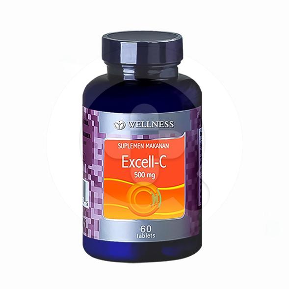 Wellness Excell-C 500 mg tablet adalah suplemen untuk membantu memenuhi kebutuhan vitamin C
