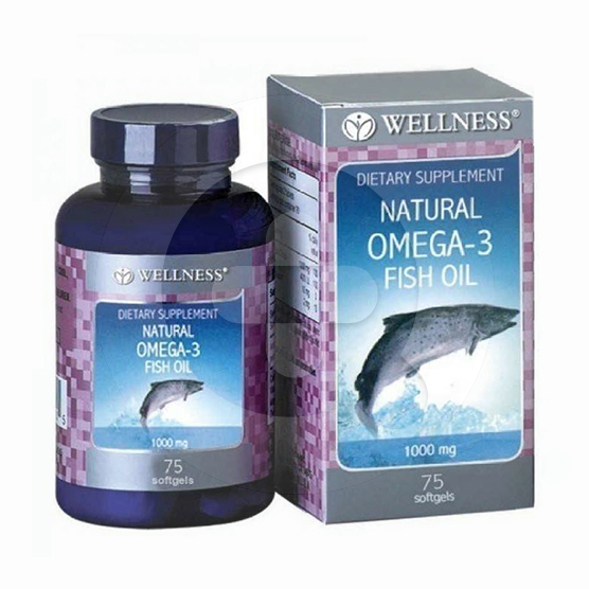 Wellness Omega-3 Fish Oil kapsul adalah suplemen untuk meningkatkan kesehatan tubuh dan otak