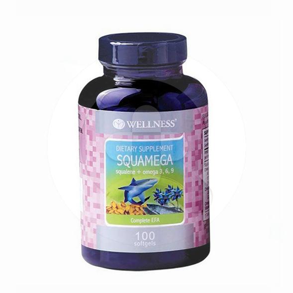 Wellness SquaMega kapsul adalah suplemen untuk menjaga kesehatan tubuh