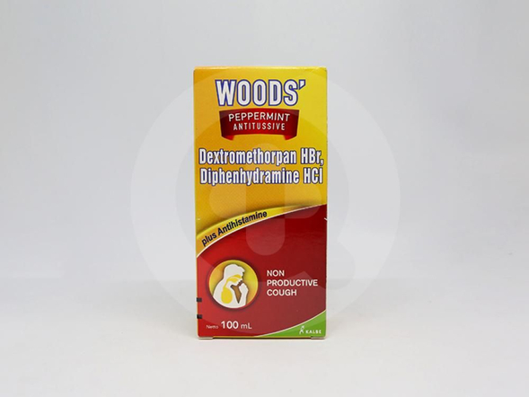 Woods Peppermint Antitussive adalah obat yang digunakan untuk meredakan batuk tidak berdahak