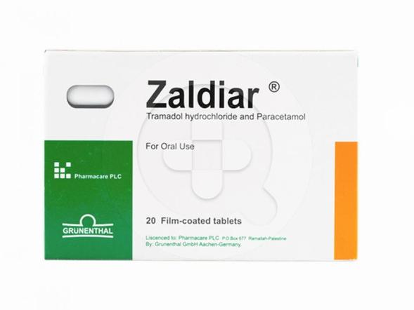 Zaldiar tablet digunakan untuk meredakan nyeri sedang hingga berat.