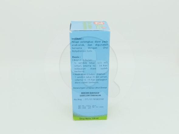Zanic Sirup 100 ml digunakan sebagai terapi pelengkap diare pada anak-anak digunakan bersama dengan garam rehidrasi oral.