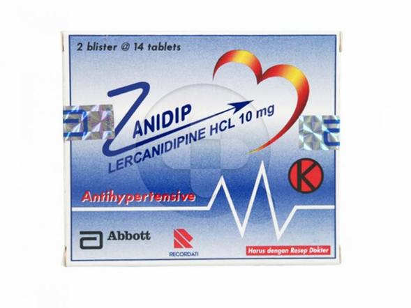 Zanidip tablet digunakan untuk menurunkan tekanan darah tinggi (hipertensi).