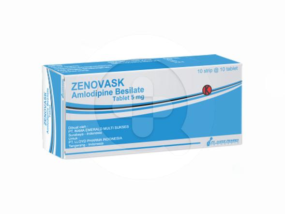 Zenovask tablet adalah obat untuk menurunkan tekanan darah yang tinggi atau di atas kadar normal.