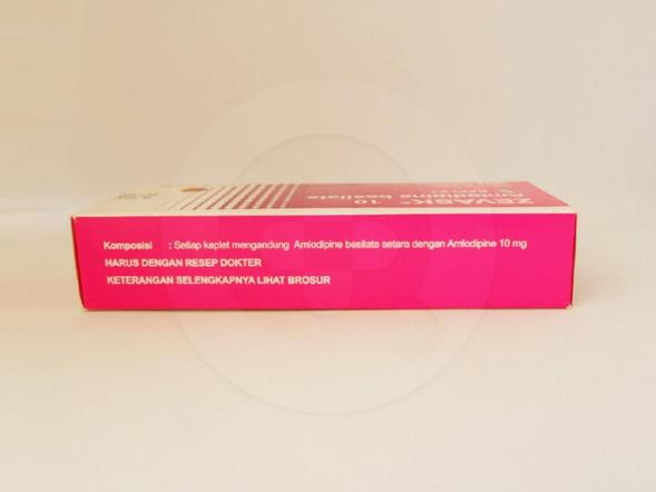 Zevask kaplet 10 mg diindikasikan untuk pengobatan tekanan darah tinggi (hipertensi).
