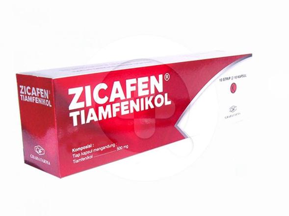 Zicafen kapsul digunakan untuk mengobati infeksi.
