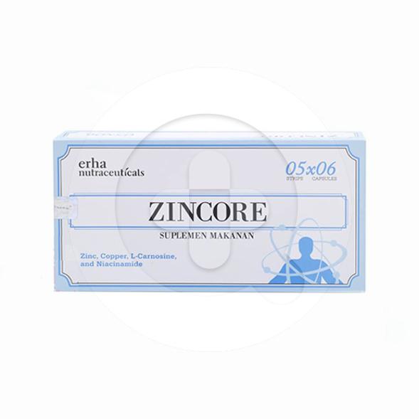 Zincore Kapsul adalah suplemen untuk merawat kulit dari dalam.