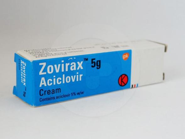 Zovirax krim 5 g obat untuk pengobatan infeksi virus herpes simpleks pada kulit, infeksi baru atau infeksi kambuhan herpes genital dan herpes labialis.