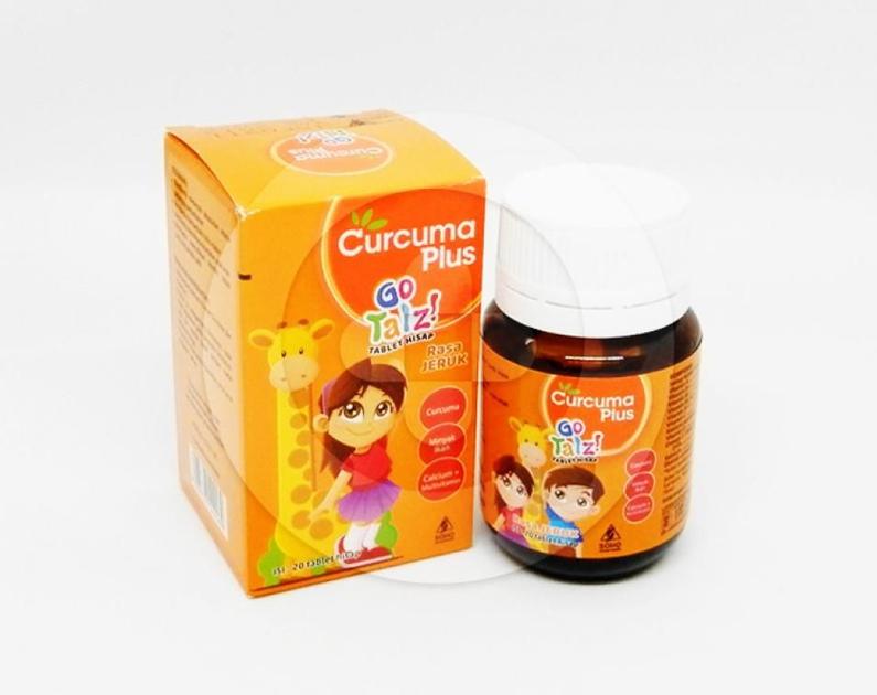 Curcuma Plus Go Talz Tablet Hisap Rasa Jeruk | Informasi ...