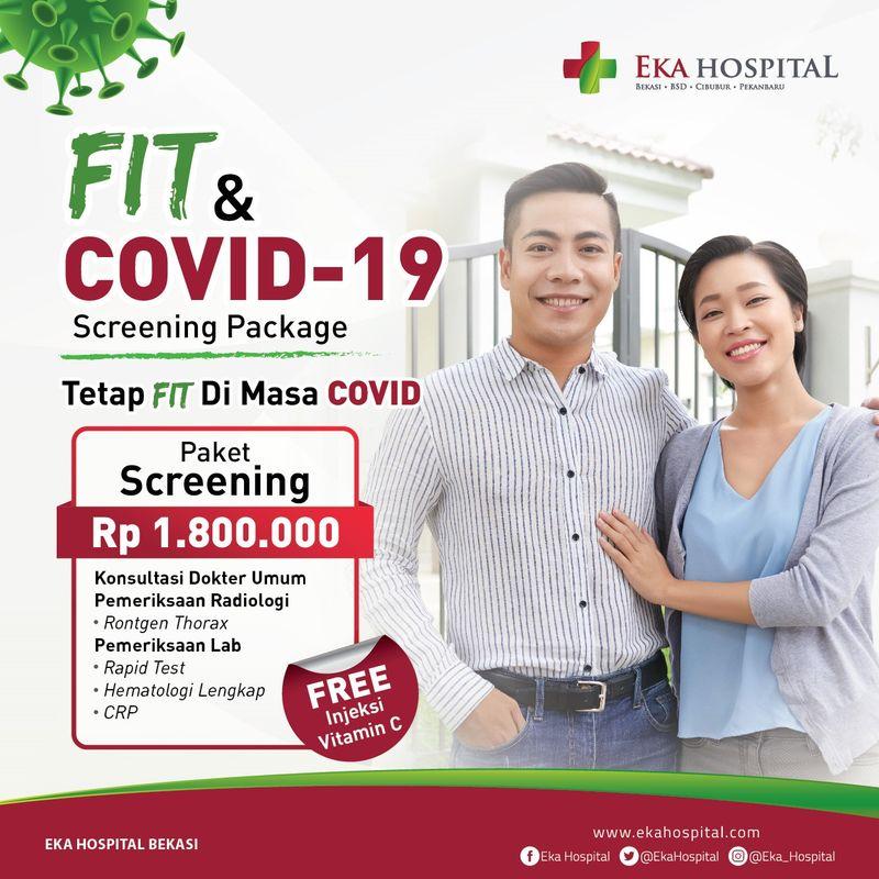 Fit and Covid-19 screening package untuk deteksi infeksi virus corona