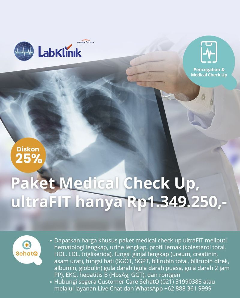 Paket medical check up ultraFIT di seluruh cabang Laboratorium Klinik Kimia Farma