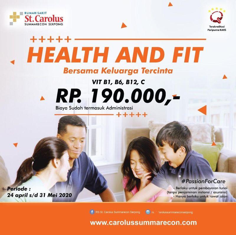 Paket health and fit vitamin booster untuk menjaga kesehatan dan daya tahan tubuh anda