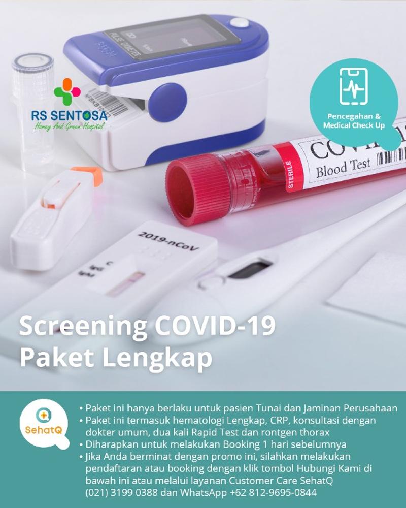 Screening COVID-19 Paket Lengkap RS Sentosa untuk mengetahui resiko infeksi coronavirus