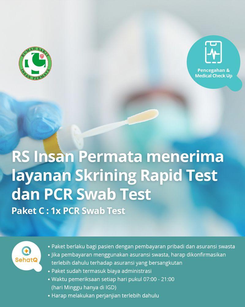 RS Insan Permata menerima layanan PCR Swab Test