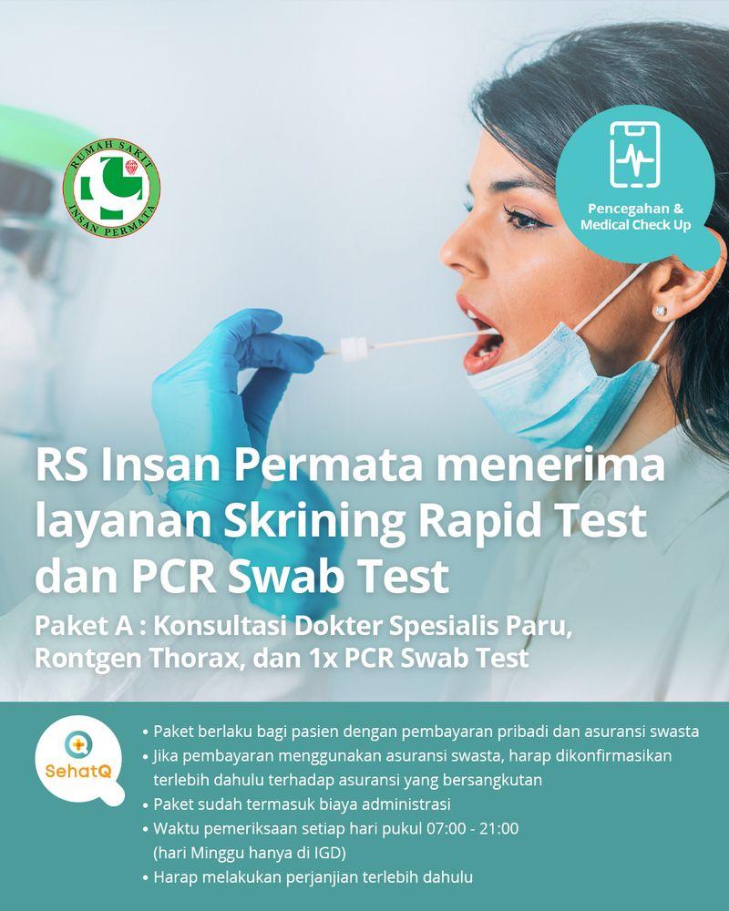 RS Insan Permata menerima layanan PCR Swab Test untuk skrining covid-19