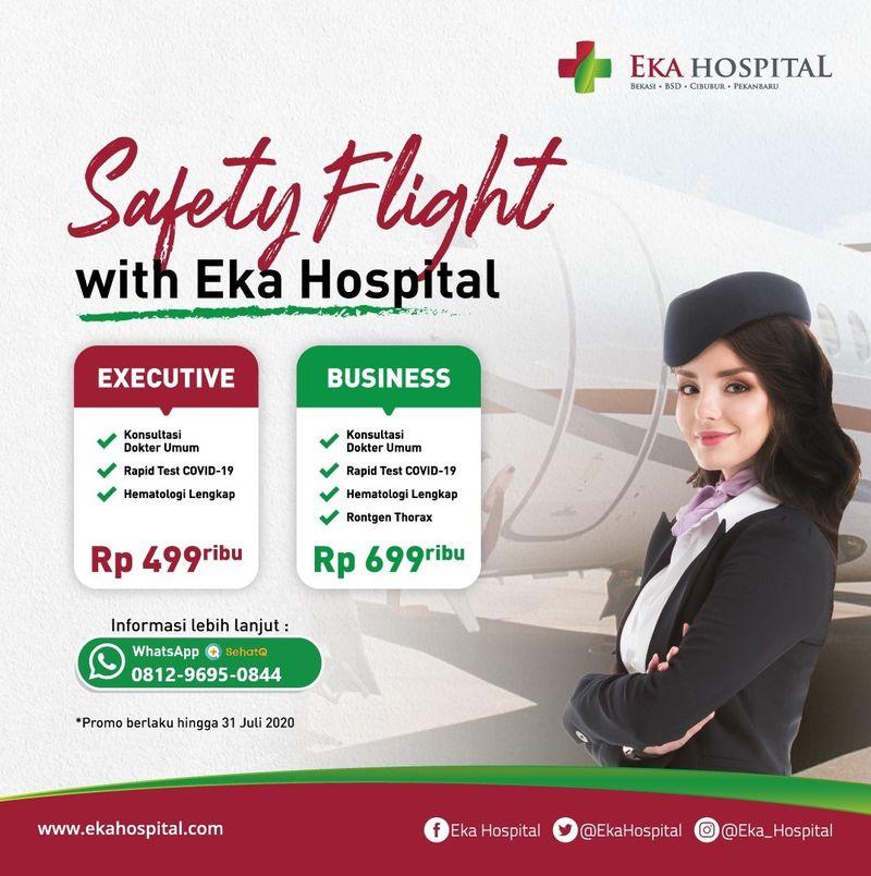 Paket safety flight untuk pemeriksaan cepat atau rapid test covid-19