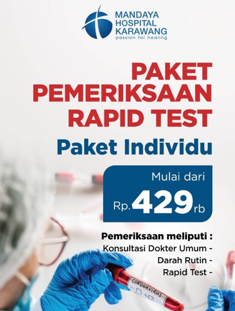Paket Pemeriksaan Rapid Test - RS Mandaya Karawang