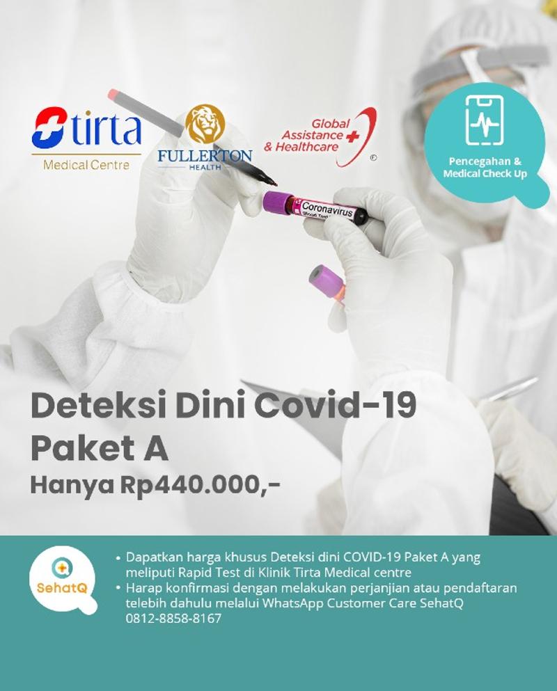Deteksi Dini Covid-19 Paket A - Klinik Tirta Medical centre