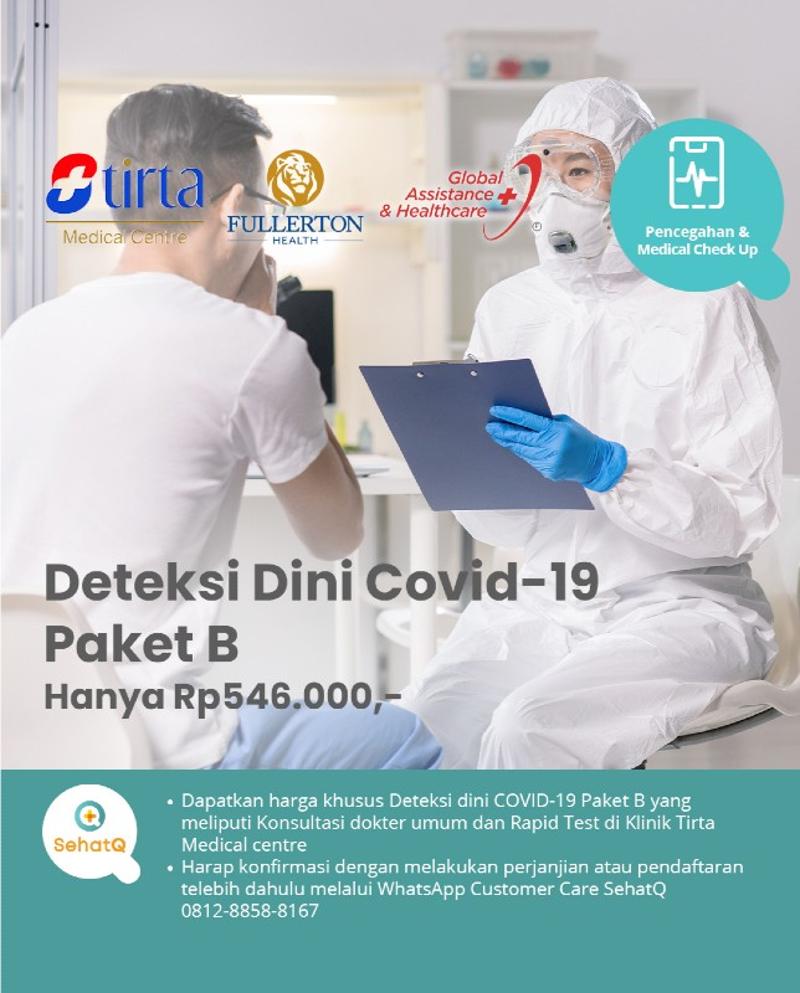 Deteksi Dini Covid-19 Paket B - Klinik Tirta Medical centre