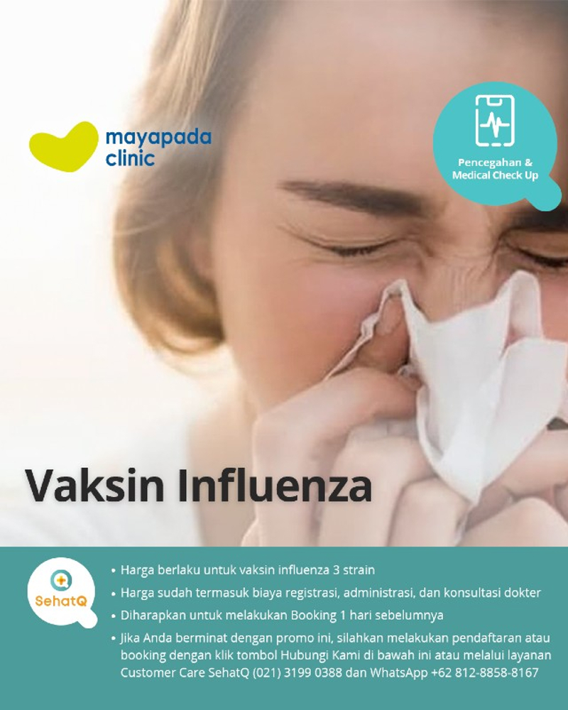 Vaksin Influensa untuk mencegah penyakit influenza