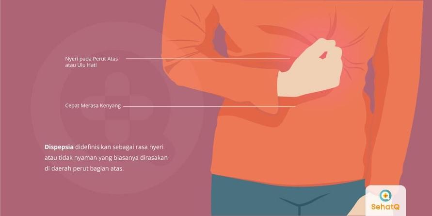 Nyeri pada perut atas dan cepat merasa kenyang merupakan gejala dispepsia