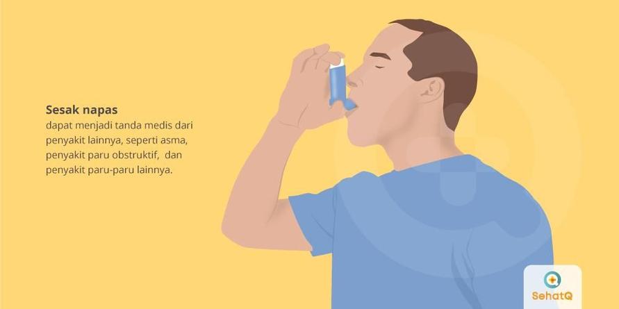 Sesak napas yang berlangsung lama bisa menjadi pertanda seseorang mengidap penyakit paru-paru.