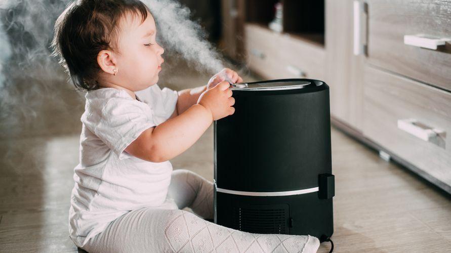 Terapi uap bayi dengan humidifier bisa melegakan pernapasan