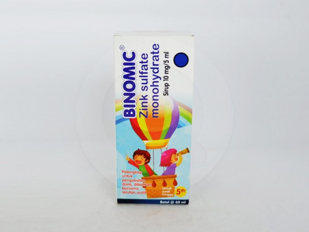 Binomic sirup 60 ml adalah obat yang digunakan untuk terapi pelengkap diare pada anak-anak.