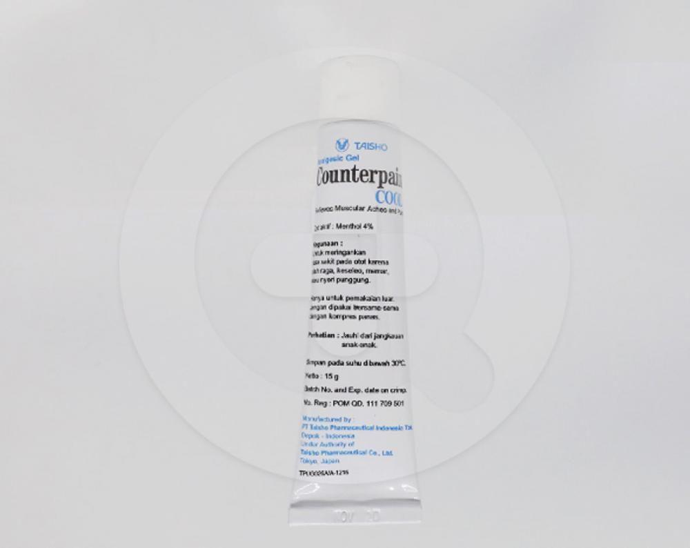 Counterpain cool gel merupakan obat oles yang digunakan untuk meredakan nyeri pada otot atau sendi