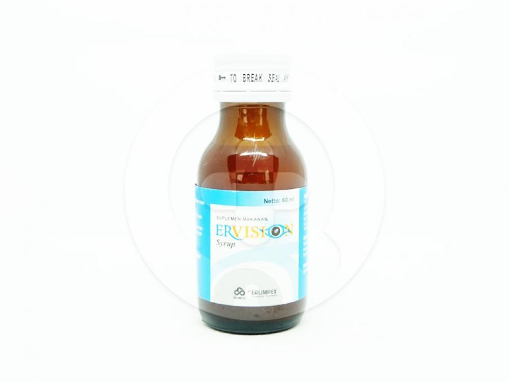 Ervision sirup 60 ml adalah obat untuk membantu memelihara kesehatan mata.