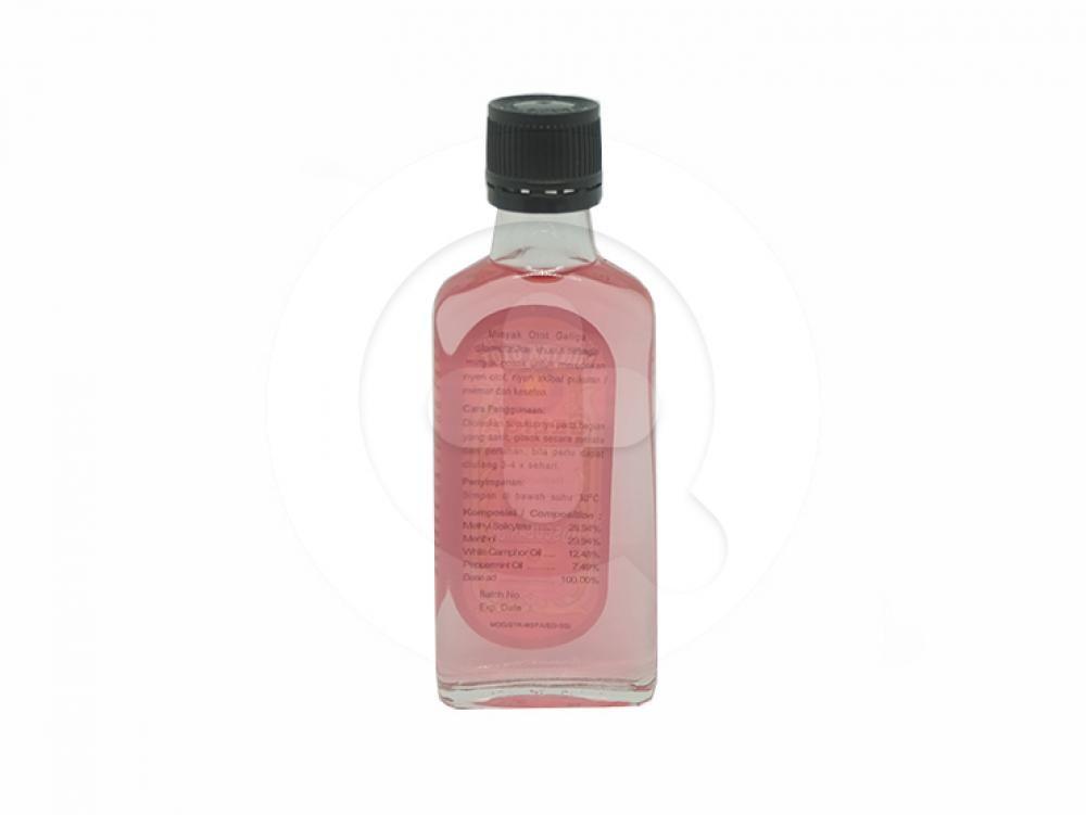 Minyak Otot Geliga 30 ml adalah minyak gosok untuk meredakan nyeri otot, nyeri akibat pukulan/memar dan keseleo.