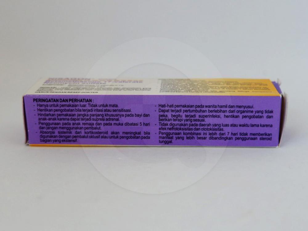 Nisagon krim 5 g untuk meringankan peradangan kulit yang responsif terhadap kortikosteroid bila terkomplikasi dengan infeksi sekunder yang disebabkan oleh organisme yang rentan terhadap neomycin.