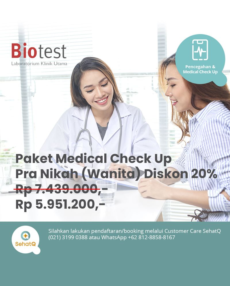 Paket Medical Check Up Pra-Nikah (Wanita) - Laboratorium Klinik Biotest